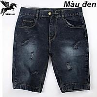 Quần short jeans nam vải dày mềm mịn không nhăn hông bay màu mặc thoải mái có nhiều size 50-70kg