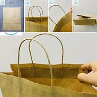 100 túi giấy Kraft nhật có quai K2013 25x10x30cm