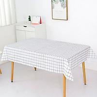 Khăn trải bàn kẻ caro nhựa PVC chống thấm nước, không mùi, không phai màu Khăn trải bàn vintage trang trí bàn ăn cao cấp