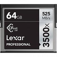 Thẻ nhớ máy ảnh CFast Lexar 64GB 3500X 525MB/s - Hàng chính hãng