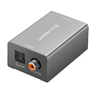 bộ chuyển tín hiệu âm thanh kỹ thuật số cổng toslink optical coaxial sang jack 3.5mm analogue màu xám Ugreen 978TS20978AT  hàng chính hãng