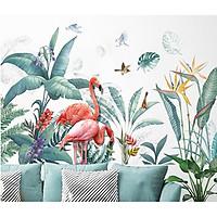 decal dán tường-vườn nhiệt đới-75