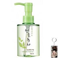 Tinh dầu tẩy trang thảo dược trà xanh Green Tea deep cleansing oil welcos 170ml tặng kèm móc khóa