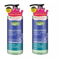 Combo 2 chai - Dầu gội thảo dược Organic giúp tóc suôn mượt Jie Fen Smoothing Shampoo, Taiwan 250ml