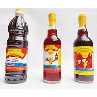 combo 3 chai mắm cốt Nha Trang đặc biệt loại 50 đạm(500ml), 40 đạm (500ml), 25 đạm(1lit)