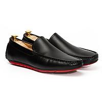 Giày Mọi Đế Thể Thao Êm, Nhẹ & Thông Thoáng Ngày Hè (Moccasins Đen - Da bò trơn -Đế Đúc) Don Italiano