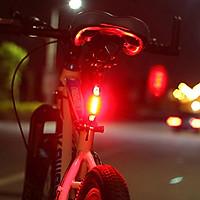Đèn 5 LED Cảnh báo sau Xe Đạp giúp đạp xe an toàn ban đêm 4 chế độ sáng (Đèn Đỏ)