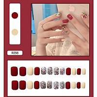 Bộ 24 móng tay giả nail thời trang (như hình-R-098)