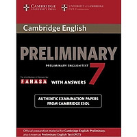 Cambridge Preliminary English Test 7 Student's Book with Answers Reprint Edition