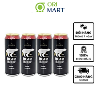 Combo 4 Lon Bia Bear Beer Dark Imported 5.3%