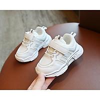 Giày Thể Thao Trẻ Em Đi Học Siêu Hot, Chất Da PU Cao Cấp Êm Mềm, Cho Bé Từ 1 Tuổi Đến 6 Tuổi (Trắng, Cam, Đen)