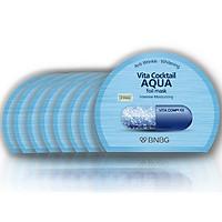 Combo 10 Mặt nạ cấp nước dưỡng da ẩm mượt, săn chắc BNBG Vita Cocktail Aqua Foil Mask - Intensive Moisturizing 30mlx 10