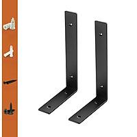 Bộ 2 giá đỡ chữ L ke bàn treo tường bằng thép phủ sơn tĩnh điện, kèm phụ kiện vít tắc kê – Hàng chính hãng