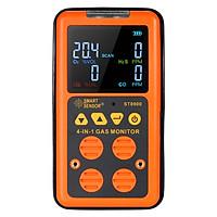 Máy Dò Khí 4 Trong 1 Cầm Tay Màn Hình LCD Tích Hợp Âm Thanh Và Báo Rung Nhẹ Dò Khí Độc Hại Smart Sensor (0-999ppm)