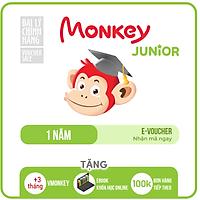 Evoucher Monkey Junior (Trọn đời, 4 năm, 2 năm,1 năm) - Phần mềm tiếng Anh và đa ngôn ngữ