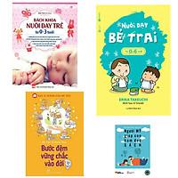 Combo bách khoa nuôi dạy trẻ từ 0-3 tuổi+nuôi dạy bé trai từ 0-6 tuổi+bước đệm vững chắc vào đời(bản đặc biệt tăng kèm sách người Mỹ giúp con ham đọc sách)