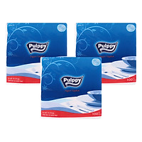 Combo 3 Gói Khăn Ăn Pulppy Paper (100 Tờ)