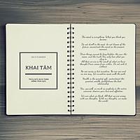 """Sổ tay planner nhật ký hàng ngày Khai tâm – quyển 1/4 trong bộ sổ """"Tỉnh thức"""" bởi Self-Planner"""