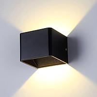 Đèn gắn tường hình lập phương hiện đại hắt 2 đầu.