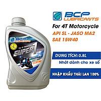 Nhớt Xe Số BCP Super 1 SAE 15W40, API SL, JASO MA (0.8L)