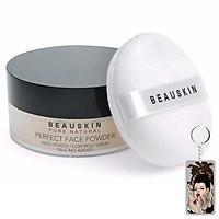 Phấn phủ bột Beauskin Perfect Face Powder Hàn Quốc 30g #21 Natural Beige tặng kèm móc khoá