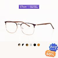 Gọng kính nửa viền mắt vuông bầu kim loại kiểu dáng thời trang nhiều màu Elmee phù hợp cả nam và nữ E1009
