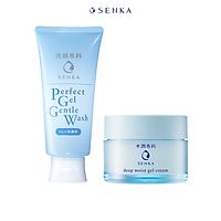 Bộ sữa rửa mặt dạng gel dịu nhẹ và Mặt Nạ Ngủ Cấp Ẩm Chuyên Sâu Senka (Senka Perfect Gel Gentle Wash và Senka Deep Moist Gel Cream 50G)
