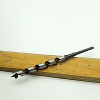 Mũi khoan gỗ xoắn ốc phi 17mm đầu auger dài rãnh 135mm chuôi lục Nhật Bản
