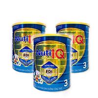 Bộ 3 lon sữa Nuti IQ Gold 3 1.5kg (mới) - Phát triển não bộ và thị giác, Tăng cường sức đề kháng, Phát triển cân nặng - chiều cao, Tiêu hoá - hấp thu tốt, Ngăn ngừa táo bón
