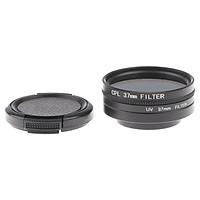 Camera Filter Kit 37mm Camera UV & CPL Lens Filter w/ Lens Cover For Xiaoyi 4K