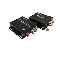 Bộ chuyển đổi video sang quang 2 kênh  GNETCOM HL-2V1D-20T/R-720P (2 thiết bị,2 adapter,cổng điều khiển) - Hàng Chính Hãng