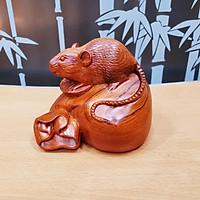 Tượng con chuột gỗ hương