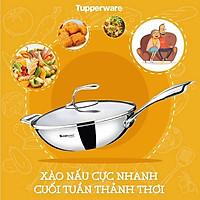 Chảo Tupperware T Chef Series Wok Pan 24cm (nắp kính)