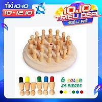 Đồ chơi thông minh dành cho trẻ em đầy màu sắc mô phỏng cờ vua trí tuệ Children's Intelligent Toys Colorful Memory Chess Wooden
