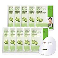 Mặt Nạ Dermal Tinh Chất Dưa Leo Dưỡng Ẩm Da Cucumber Collagen Essence Mask 23g - 10 Miếng