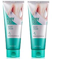 Combo 2 Tuýp Kem Dưỡng Trắng Da Toàn Thân Verobene BODY Spa White Cream Hàn Quốc 200ml
