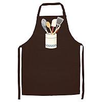 Tạp Dề Làm Bếp In họa tiết Cốc trắn đựng đồ bếp