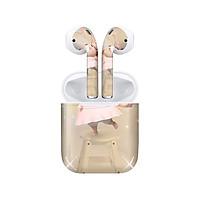 Miếng dán skin chống bẩn cho tai nghe AirPods in hình Heo con dễ thương - HEO2k19 - 010 (bản không dây 1 và 2)