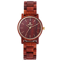 Men's Wooden Watch REDEAR Wood Watch Analog Quartz Ultra Light Business Casual Watches Wristwatch His and Hers Lovers