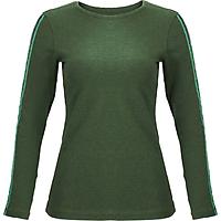 Áo T-shirt Nữ Tay Dài_Yvette LIBBY N'guyen Paris_YVETTE COOL WT1 _Màu Xanh rêu (Greenery)_Cotton Mélange hữu cơ (Organic)