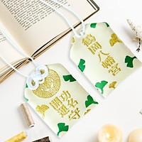 Túi gấm Omamori công danh có kèm túi chống nước Túi Phước May Mắn dây treo trang trí