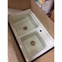 Chậu đá rửa bát giật cấp CHINOX 86x48cm ( đủ màu)