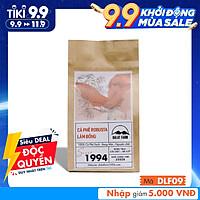 Cà phê Robusta Lâm Đồng rang mộc sạch nguyên chất - Túi 250Gr (Dạng Bột)