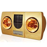 Đèn sưởi treo tường 2 bóng vàng kèm thổi gió nóng Kottmann dùng công tắc - K2B-HW-G- Hàng chính hãng