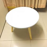 Bàn trà, bàn sofa tròn trắng 60x45, bàn cafe phòng khách, bàn coffee, bàn gỗ cà phê