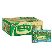 [Chỉ Giao HCM] [Phiên bản ống hút giấy] Thùng 48 hộp sữa lúa mạch Nestlé Milo ít đường (48x180ml)