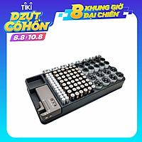 Hộp Trữ Pin Kiểm Tra Được Trạng Thái Pin Dành Cho Pin Aaa, Aa, 9V, C, D Và Pin Nút - Đen