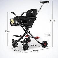 Xe đẩy 2 chiều cho bé - Xe đẩy gấp gọn đu lịch - Xe đẩy em bé - Hàng Nhập Khẩu