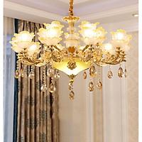 Đèn chùm pha lê TELT phong cách hiện đại, sang trọng, độc đáo - kèm bóng LED chuyên dụng.