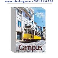 Lốc 5 quyển vở kẻ ngang có chấm Adventure 120 trang B5 Campus NB-BAVT120 màu xanh ngọc